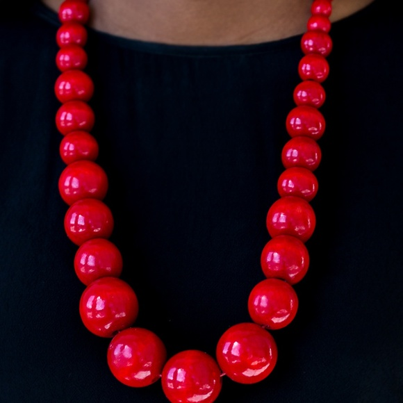 paparazzi Jewelry - Effortlessly Everglades - Red Necklace Set